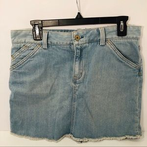 Gap Denim Mini Skirt Light Wash